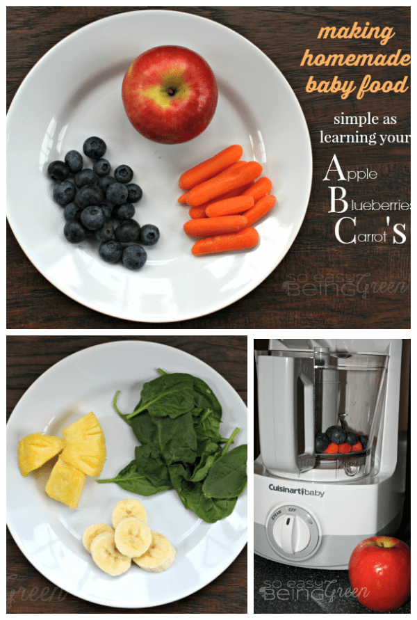 Making DIY Baby Food