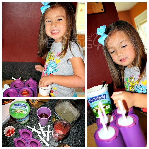 Making Frozen Yogurt Pops Collage
