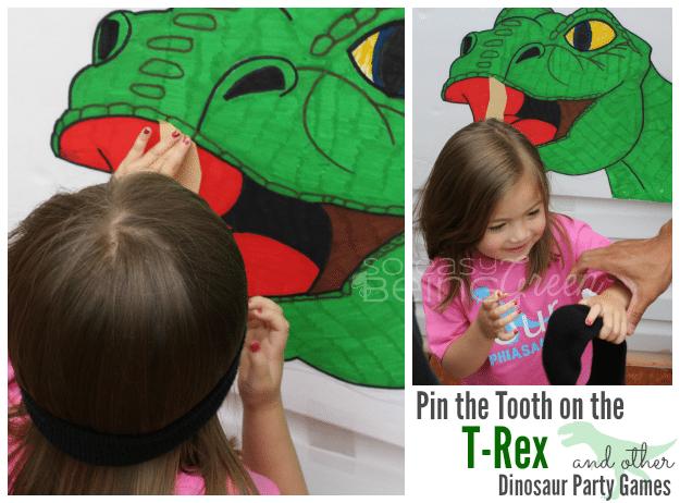Dinosaur Birthday Party Ideas - TRex Party Game
