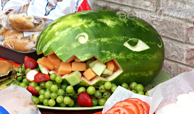Dinosaur Birthday Party Ideas Food TRex Watermelon