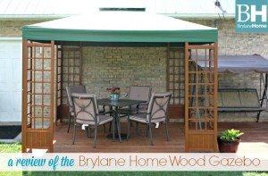 Brylane Home Wood Gazebo
