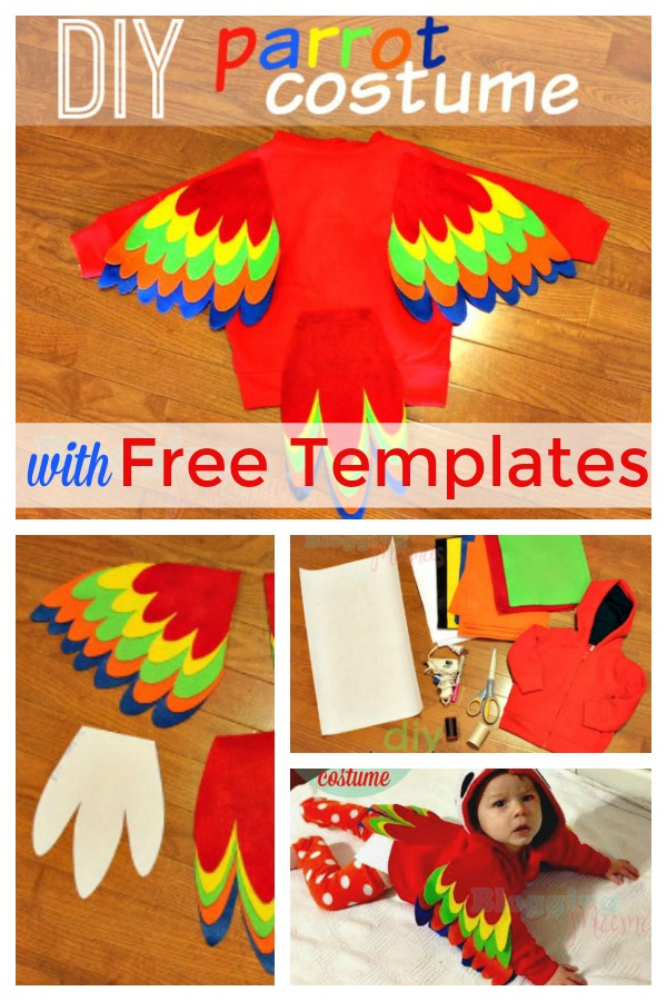 DIY Baby Parrot Costume for under $12
