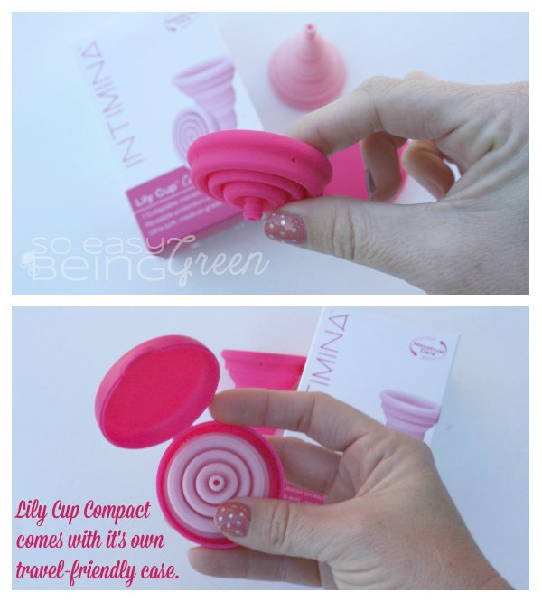 Collapsible Lily Cup comes in it's own case making it great for travel