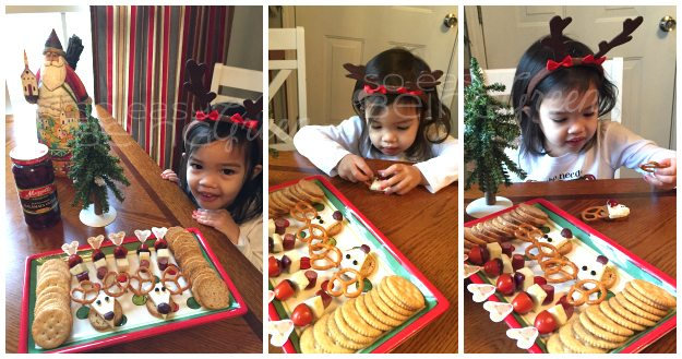 Making Olive the Reindeer Collage