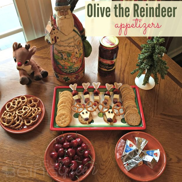 Olive Reindeer Appetizers Square