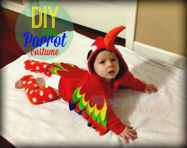 Baby Parrot Costume  sc 1 st  So Easy Being Green & Baby Parrot Costume DIY with Free Pattern Templates