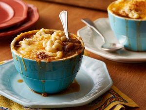 French Onion and Mac and Cheese Soup