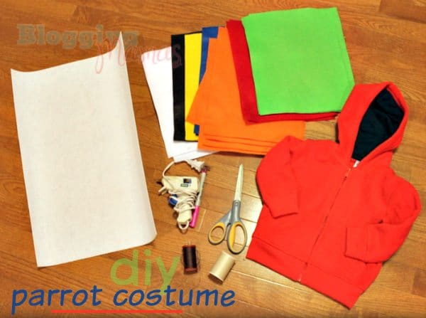 Toddler Parrot Costume Supplies