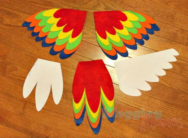 Baby Parrot Costume Diy Pattern Templates