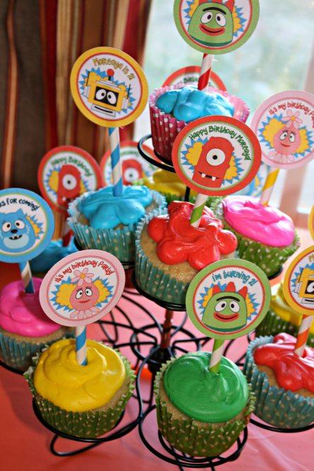 Yo-Gabba-Gabba-Cupcakes