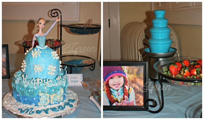 FROZEN Party Cake and Snacks