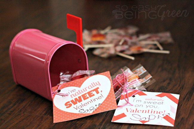 Organic Lollipop Valentines