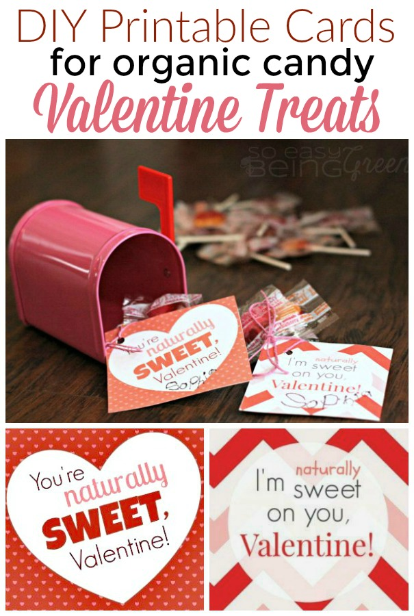 Valentine Card Free Printable for Organic Candy Treats – Candy Valentine Card