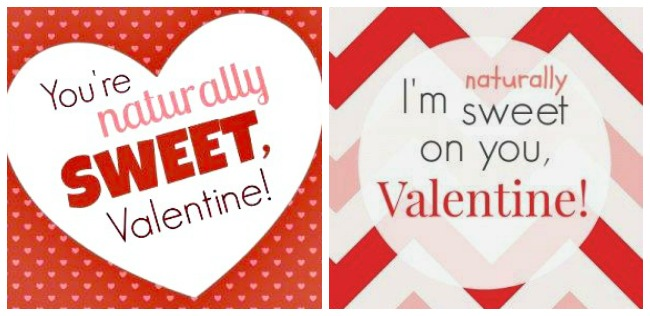 Valentine Card Free Printable for Organic Candy Treats – Sweet Valentine Card