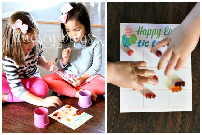 Girls Easter Tic Tac Toe