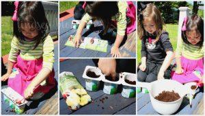 Kids Garden Activity: ReUse Yogurt Cups to Plant Organic Seeds