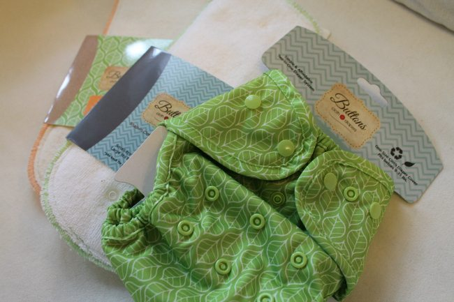 Buttons Cloth Diapers Set