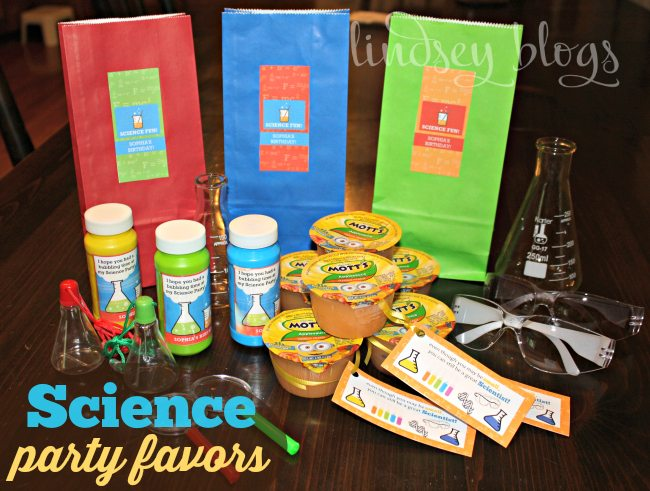 Science Party Favors Take Home