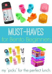 Must Haves for Bento Beginners