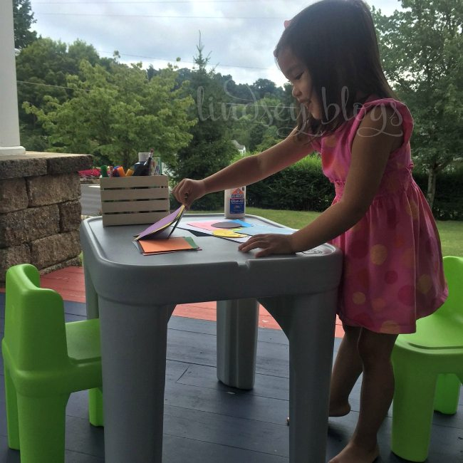 DIY Lego Table from the Step2 Mighty My Size Table & Chairs