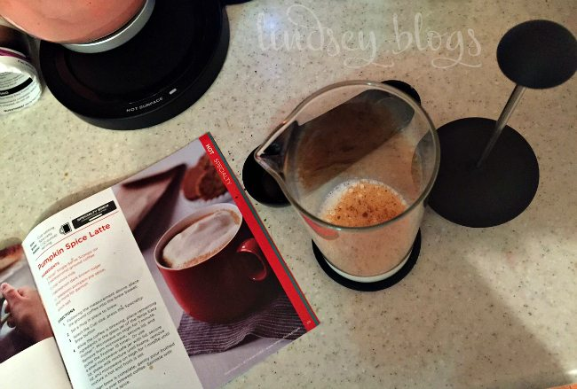 DIY Pumpkin Spice Latte - Ninja Coffee Bar Recipes at Home with ninja easy frother