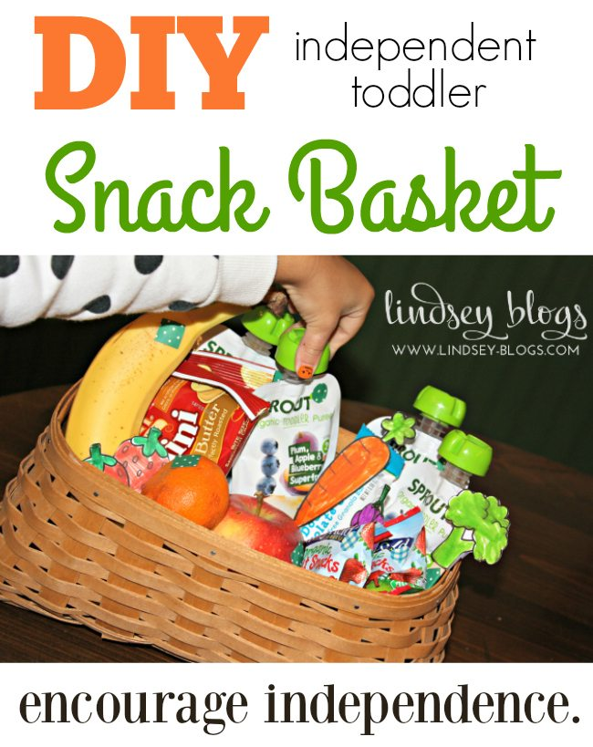 DIY independent toddler Snack Basket