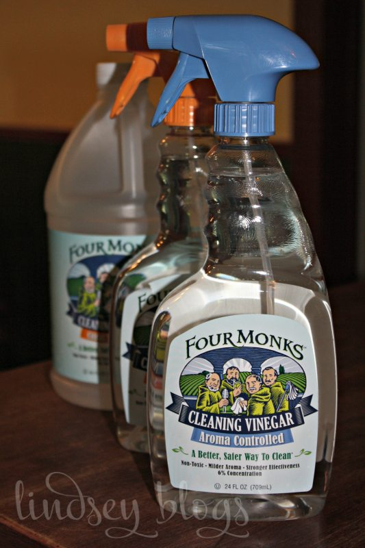 Natural Cleaning with Four Monks Cleaning Vinegar
