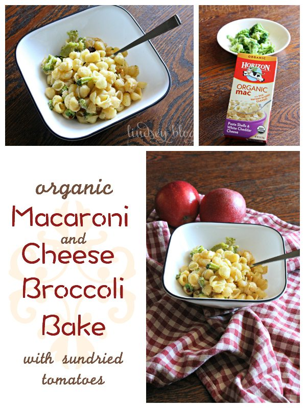 Organic Macaroni and Cheese Broccoli Bake
