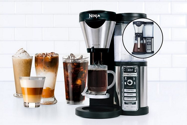 Ninja Coffee Bar Recipes features different size of drinks