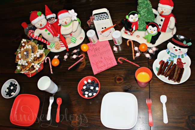 North Pole Breakfast Elf on the Shelf