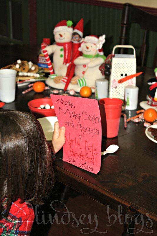 Reading Elf on the Shelf Letter