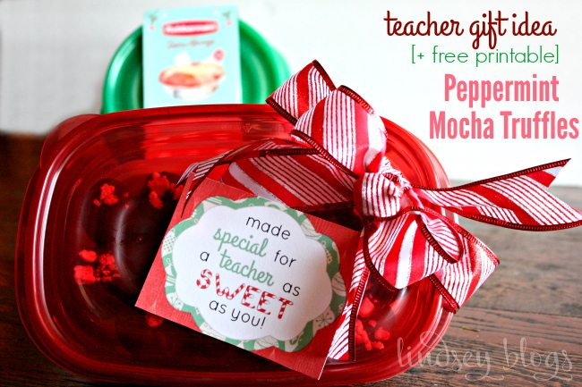 Teacher Gift Peppermint Mocha Truffles
