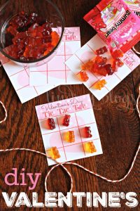DIY Tic Tac Toe Valentine Cards for Kids with FREE Printable