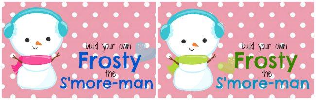 Frosty the Smoreman Printable Tags