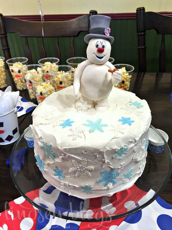 Frosty the Snowman Birthday Cake