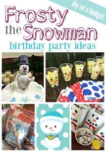 Frosty the Snowman Birthday Party Ideas