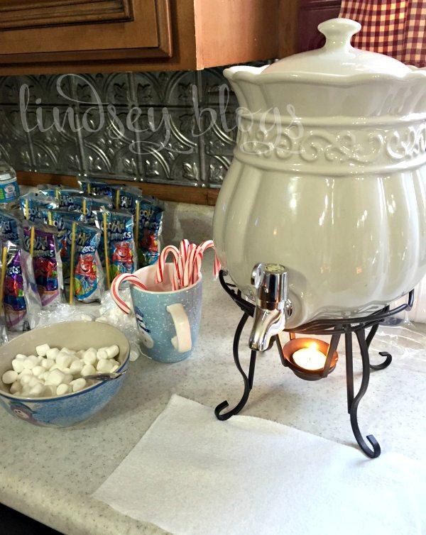 Snowman Hot Chocolate Station