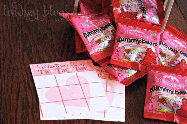 Mini Tic Tac Toe Valentine Board