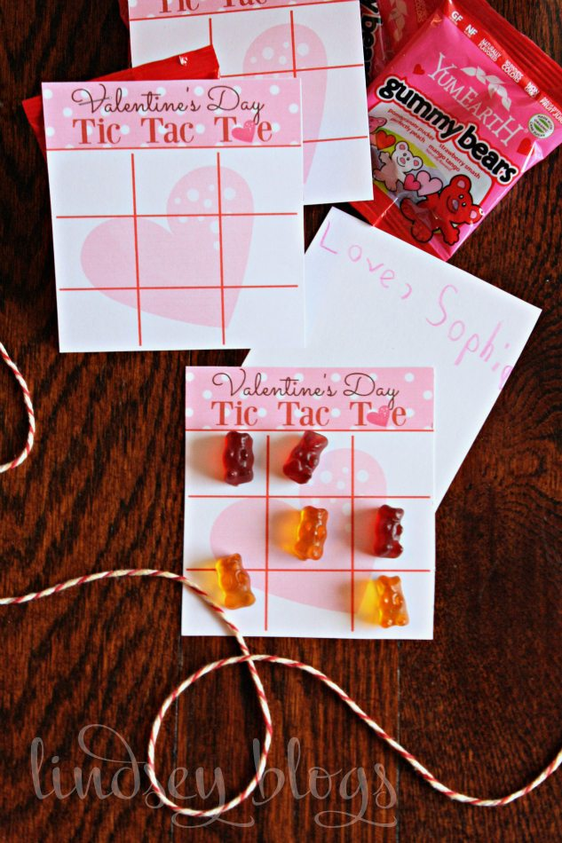 Printable Tic Tac Toe Valentines for Kids Classroom
