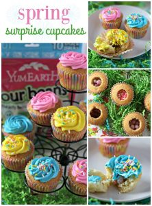 Surprise Cupcakes with YumEarth Organic Easter Candy