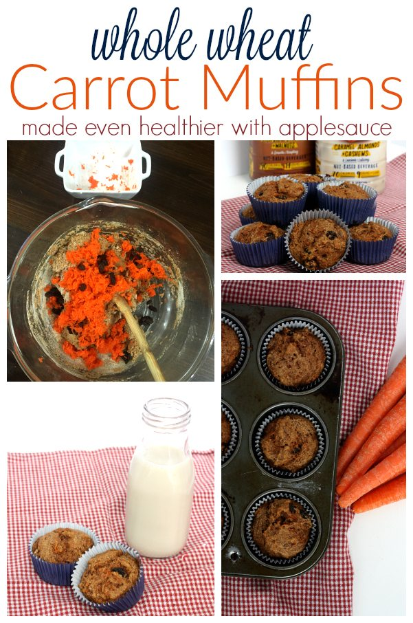 Whole Wheat Carrots Muffins Pin