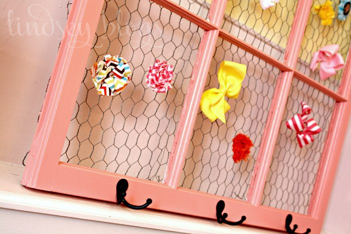 Chicken Wire Vintage Window Hair Bows Tutorial to DIY