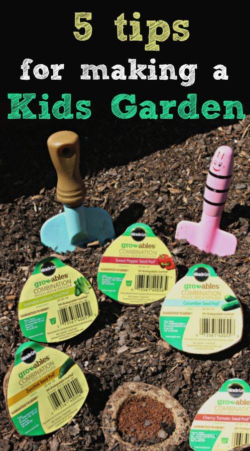 Making a Kids Garden Pin