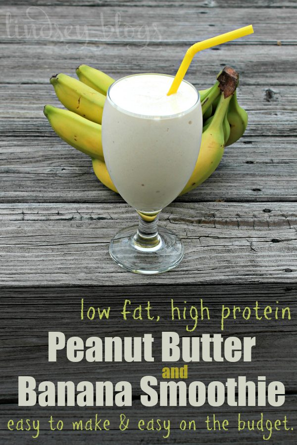 Peanut Butter Banana Easy Smoothie
