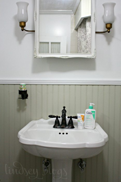 Bathroom Skincare Routine