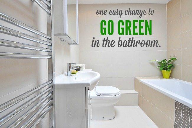 One Change Green Bathroom