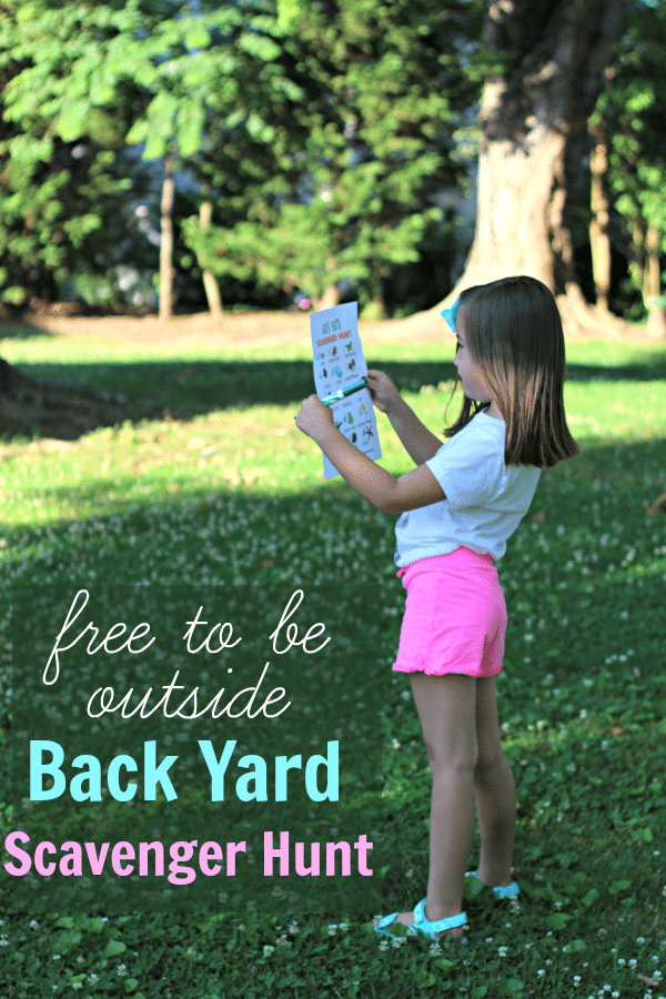Free To Be Back Yard Scavenger Hunt