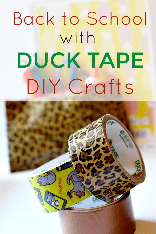 Back to School Duck Tape Pencil Pouch
