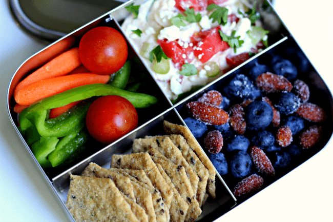 layered hummus dip recipe gluten free adult bento box ideas. Black Bedroom Furniture Sets. Home Design Ideas