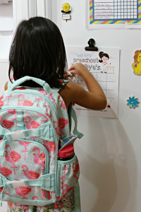 Help Preschoolers with Separation Anxiety with a Sticker Chart [free printable!]